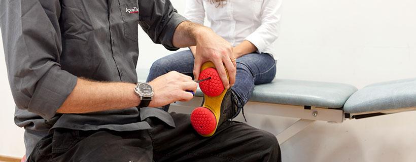התאמת נעלי טיפול למטופל