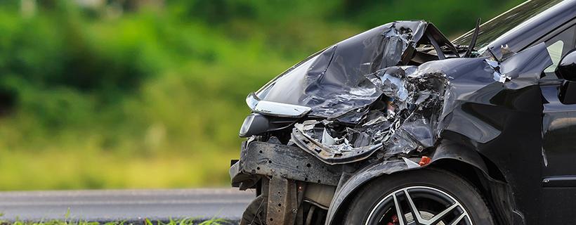 מכונית אחרי תאונה